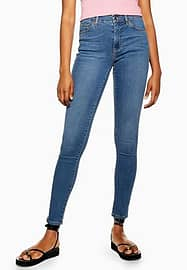 Leigh - Jeans in middenblauwe wassing