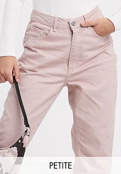 Missguided Mom jeans in roze