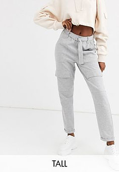 Missguided Joggingbroek met zak in grijs
