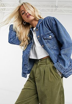 Only Denim jack in blauw-Zwart