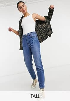 Tall - Mom jeans in blauw