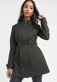 Minor - Smalle trenchcoat-Groen