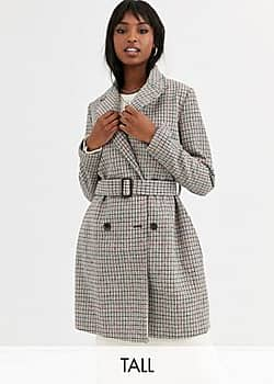 Missguided Trenchcoat met riem en ruitprint-Multi