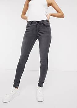 Ultimate high rise - L32 skinny jeans in grijs