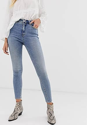 Authentic - Denim skinny-jeans met hoge